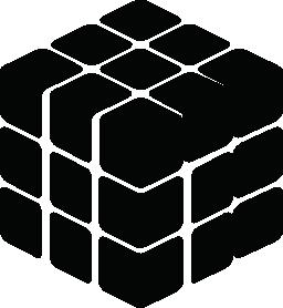 Rubix キューブ シルエット無料アイコン