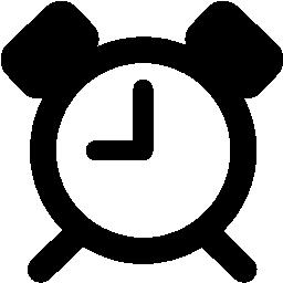 目覚まし時計シルエット無料アイコン