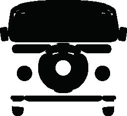レトロなバン車無料アイコン
