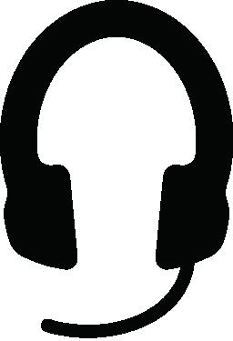 巨大なヘッドフォン無料アイコン