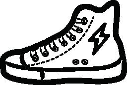 ボルト ロゴ無料アイコン高いカット スニーカー