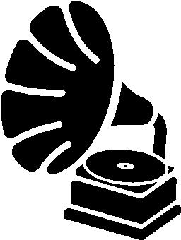 アンティークの音楽ディスク プレーヤー無料アイコン