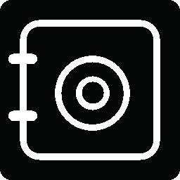 正方形のばねメモ帳無料アイコン