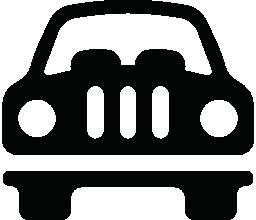 車の正面の無料のアイコン