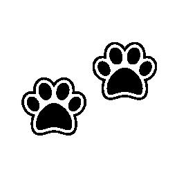犬 pawprints 無料アイコン