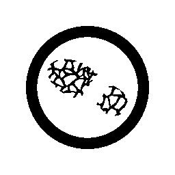 足跡の細い線を円の無料アイコンのグロス線の内側