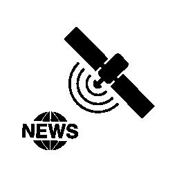 ジャーナリズム、衛星放送、ニュースのロゴの無料アイコン