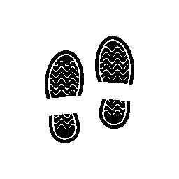男性の靴の足跡無料アイコン