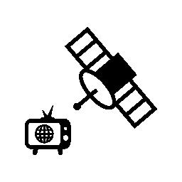 テレビ、衛星放送無料アイコン