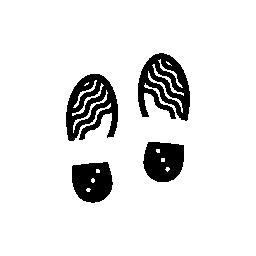 無料のアイコンを人間の靴の足跡