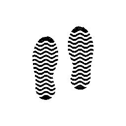 無料のアイコンを人間のストライプ靴の足跡