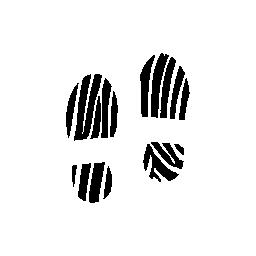 足跡いくつかのストライプ人間靴無料アイコン