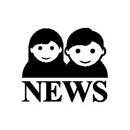 男性と女性のニュース レポーター無料アイコン