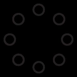 小さな円の円の無料アイコンを形成