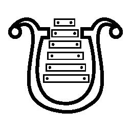 楽器ハープ、IOS 7 シンボル無料アイコン