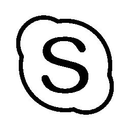 Skype は、IOS 7 インタ フェース シンボル無料アイコン