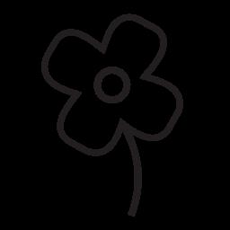 白い花の形、IOS 7 インタ フェース シンボル無料アイコン
