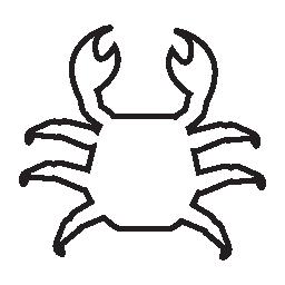 カニの形状、IOS 7 シンボル無料アイコン