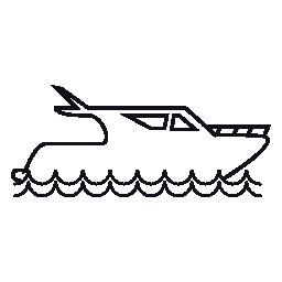 贅沢なヨットの無料アイコン