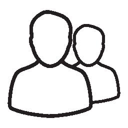 ユーザー 2、男性、IOS 7 インタ フェース シンボル無料アイコン