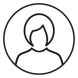 短い髪のアバター無料のアイコンを持つ女性ユーザー