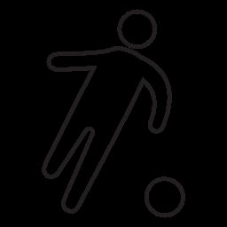 サッカー選手の形、IOS 7 無料のアイコンのインターフェイスのシンボル