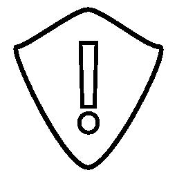 シールドの無料アイコンを警告サイン