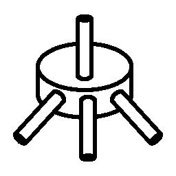 スピンドル、IOS 7 インタ フェース シンボル無料アイコン