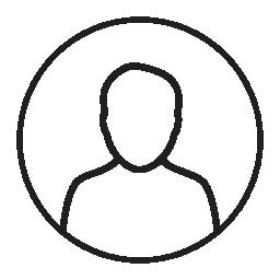 サークル、IOS 7 インタ フェース シンボル無料アイコンでユーザー男性] 図形