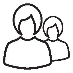ユーザーは、2 つ、女性、女性、IOS 7 シンボル無料のアイコン