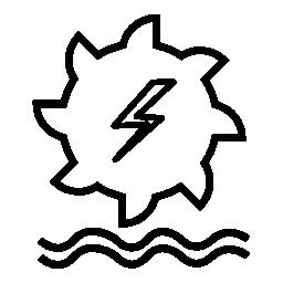 水力発電の生成無料アイコン
