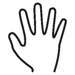 5 本の指のシルエットの無料のアイコン