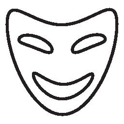 コメディ マスク、IOS 7 インタ フェース シンボル無料アイコン