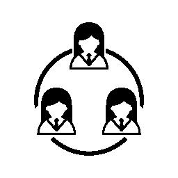 女性のサイクル無料アイコン