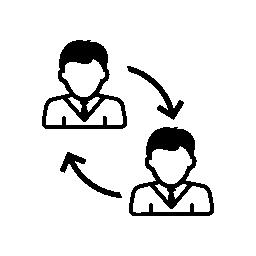 男性ユーザーのソーシャル コネクション無料アイコン