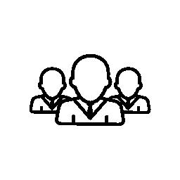 概要無料のアイコンを閉じる男性ユーザー グループ