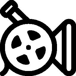 映画リール ビデオ カメラ無料アイコン