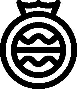王冠の無料アイコンを円形のデザイン