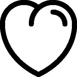 ハート形の輪郭の無料アイコン