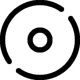 円形の境界線の無料のアイコンの小さな円