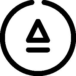 サークル ボタン無料アイコン内の三角形の概要