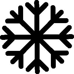 雪の結晶裏打ち無料アイコン