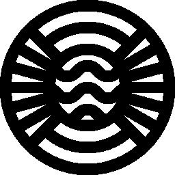 円形アールデコ デザイン無料のアイコン
