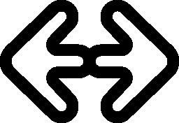 左と右の無料アイコンを指す二重矢印の概要