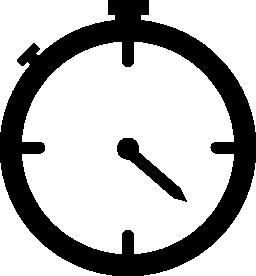壁時計の無料アイコン