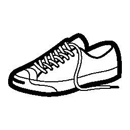 スポーツやカジュアルな靴無料アイコン