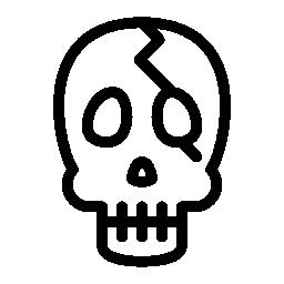 頭蓋骨概要無料アイコン
