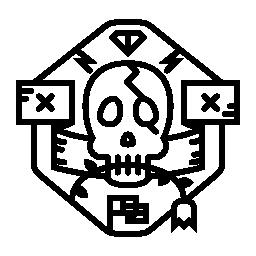 頭蓋骨の盾無料アイコン