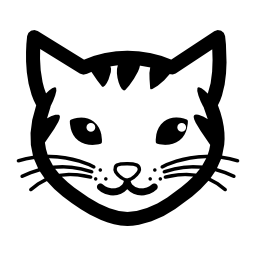 縞模様の猫顔無料アイコン