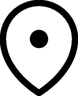 大きな地図ロケーター無料アイコン